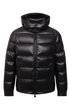 Мужская пуховая куртка maya MONCLER черного цвета, арт. G2-091-1A536-00-68950 | Фото 1 (Материал внешний: Синтетический материал; Материал утеплителя: Пух и перо; Материал подклада: Синтетический материал; Рукава: Длинные; Длина (верхняя одежда): Короткие; Кросс-КТ: Куртка; Мужское Кросс-КТ: пуховик-короткий; Стили: Кэжуэл)