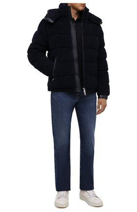 Мужская пуховая куртка michon MONCLER темно-синего цвета, арт. G2-091-1A000-89-595EA | Фото 2