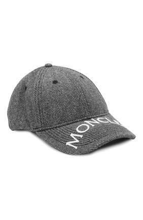 Мужской бейсболка MONCLER серого цвета, арт. G2-091-3B000-20-595EL | Фото 1 (Материал: Синтетический материал, Текстиль)