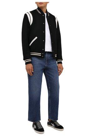 Мужские кожаные кеды steven PREMIATA черного цвета, арт. STEVEN/VAR5439 | Фото 2 (Материал внутренний: Натуральная кожа; Подошва: Плоская)