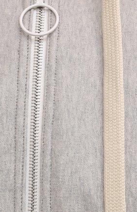 Мужской хлопковая толстовка MAISON MARGIELA светло-серого цвета, арт. S50HG0041/S25505 | Фото 5 (Рукава: Длинные; Мужское Кросс-КТ: Толстовка-одежда; Длина (для топов): Стандартные; Материал внешний: Хлопок; Стили: Спорт-шик)
