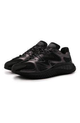Мужские комбинированные кроссовки wade runner VALENTINO черного цвета, арт. WY2S0D95/NZF   Фото 1 (Материал внутренний: Текстиль; Материал внешний: Текстиль; Стили: Гранж; Подошва: Массивная)