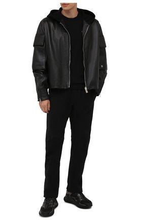 Мужские комбинированные кроссовки wade runner VALENTINO черного цвета, арт. WY2S0D95/NZF   Фото 2 (Материал внутренний: Текстиль; Материал внешний: Текстиль; Стили: Гранж; Подошва: Массивная)