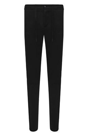 Мужские хлопковые брюки KNT черного цвета, арт. UPKN009J0349A | Фото 1 (Длина (брюки, джинсы): Стандартные; Материал внешний: Хлопок; Случай: Повседневный; Стили: Кэжуэл)