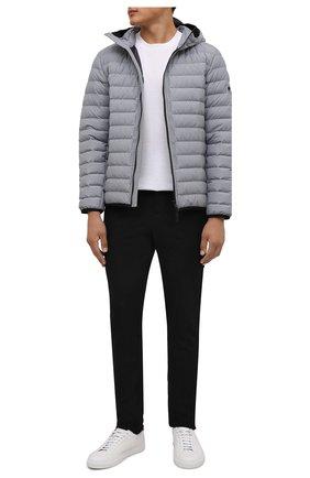 Мужские хлопковые брюки KNT черного цвета, арт. UPKN009J0349A | Фото 2 (Длина (брюки, джинсы): Стандартные; Материал внешний: Хлопок; Случай: Повседневный; Стили: Кэжуэл)