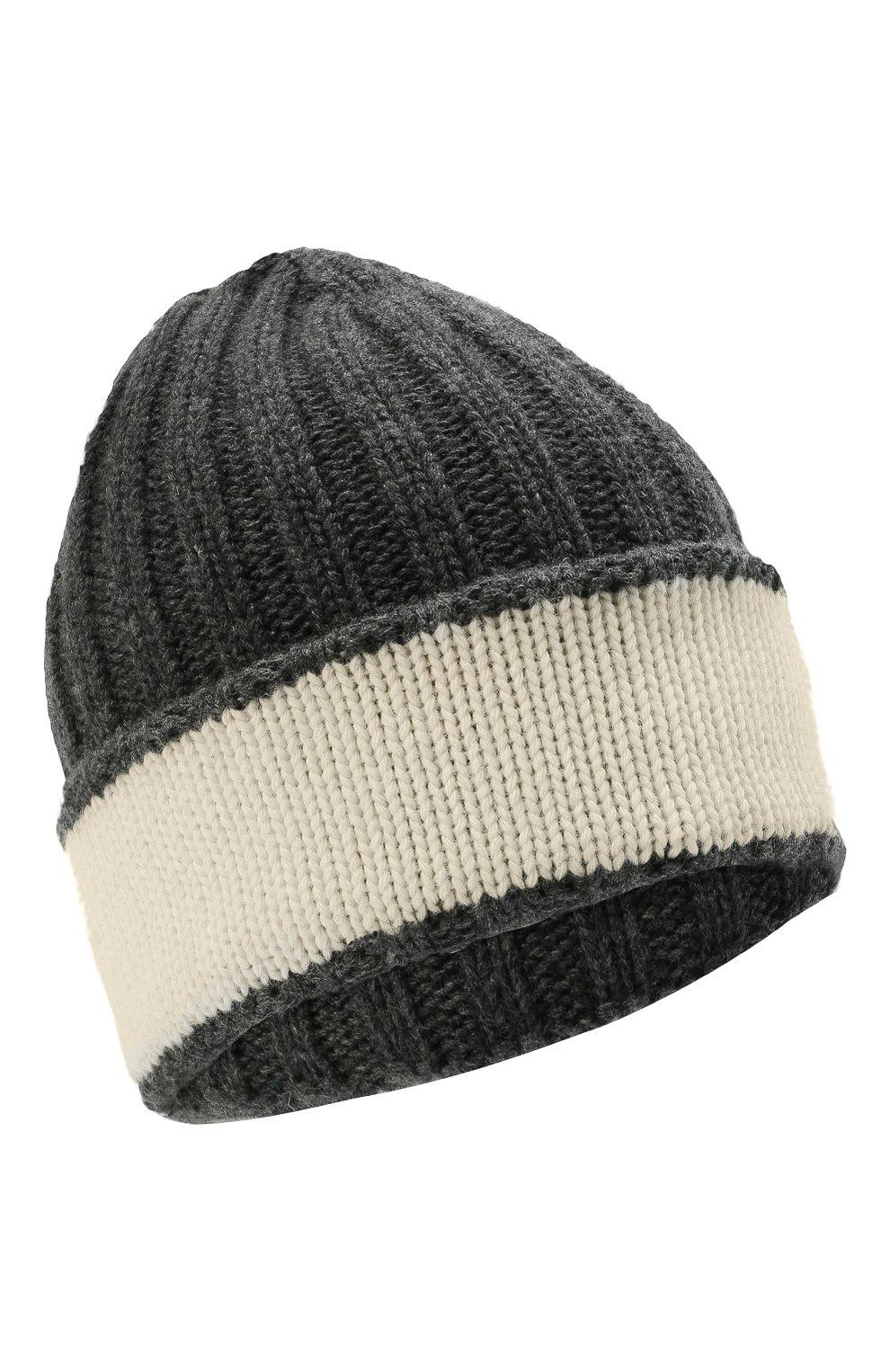 Детский комплект из шапки и шарфа EMPORIO ARMANI серого цвета, арт. 407515/1A767 | Фото 2 (Материал: Текстиль, Шерсть, Вискоза)