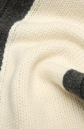 Детский комплект из шапки и шарфа EMPORIO ARMANI серого цвета, арт. 407515/1A767 | Фото 6 (Материал: Текстиль, Шерсть, Вискоза)
