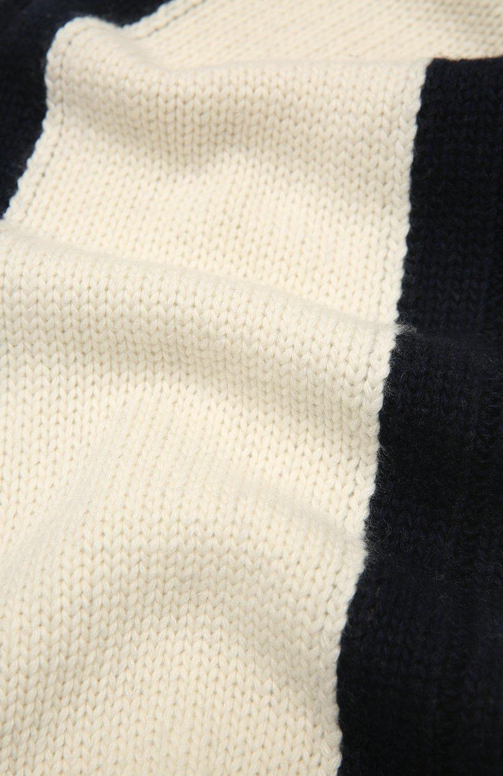 Детский комплект из шапки и шарфа EMPORIO ARMANI синего цвета, арт. 407515/1A767   Фото 6 (Материал: Текстиль, Шерсть, Вискоза)