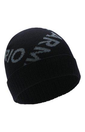 Детский комплект из шапки и шарфа EMPORIO ARMANI синего цвета, арт. 407312/1A712 | Фото 2