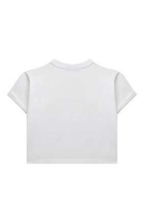 Детский хлопковый топ DOLCE & GABBANA белого цвета, арт. L5JTGG/G7BIX/8-14 | Фото 2 (Рукава: Короткие; Материал внешний: Хлопок; Девочки Кросс-КТ: футболка-одежда, топ-одежда; Ростовка одежда: 10 - 11 лет | 140 - 146см, 12 лет | 152 см, 8 лет | 128 см)
