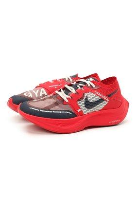 Мужские кроссовки nike x gyakusou zoomx vaporfly next% NIKELAB красного цвета, арт. CT4894-600 | Фото 1
