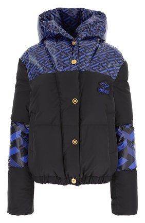 Женский пуховая куртка VERSACE синего цвета, арт. 1001397/1A01822   Фото 1