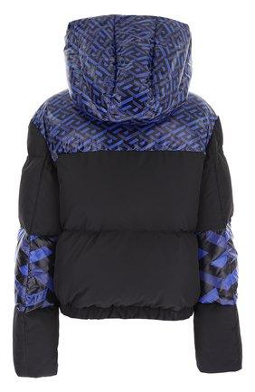 Женский пуховая куртка VERSACE синего цвета, арт. 1001397/1A01822   Фото 2