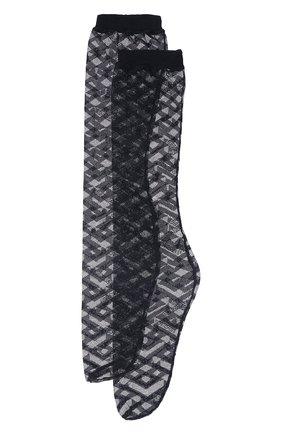 Женские капроновые носки VERSACE черного цвета, арт. 1001544/1A01647 | Фото 1