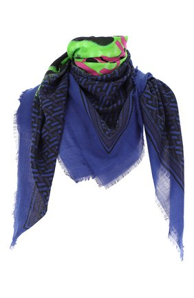 Женский платок VERSACE синего цвета, арт. 1001599/1A01925   Фото 1