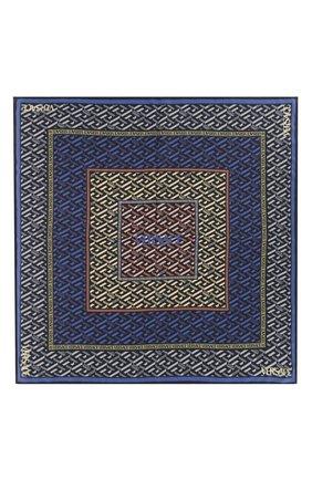 Женский шелковый платок VERSACE синего цвета, арт. 1001600/1A01906   Фото 1