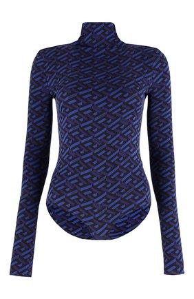 Женское шелковое боди VERSACE синего цвета, арт. 1002161/1A01805   Фото 1