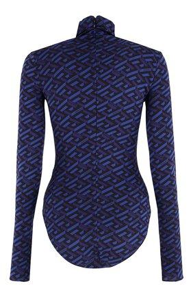 Женское шелковое боди VERSACE синего цвета, арт. 1002161/1A01805   Фото 2