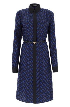 Женское платье VERSACE синего цвета, арт. 1002617/1A01805   Фото 1