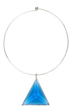 Женское колье JIL SANDER синего цвета, арт. JSWT831166/WTS80056   Фото 1