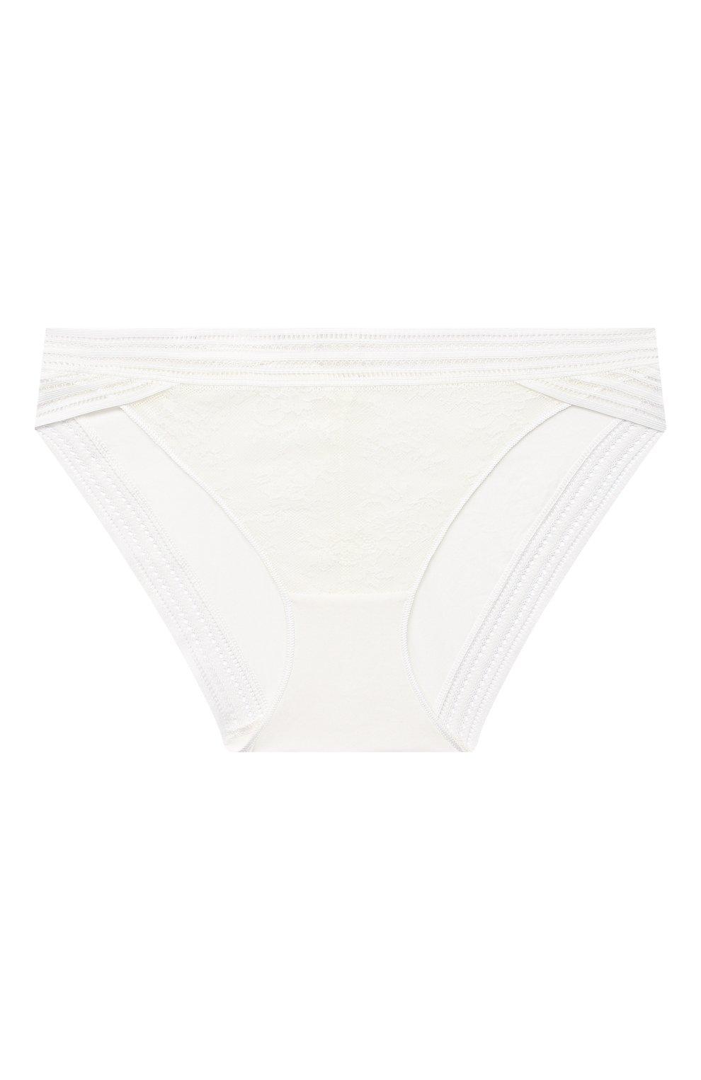 Женские трусы-слипы MAISON LEJABY белого цвета, арт. 16463 | Фото 1 (Материал внешний: Синтетический материал)