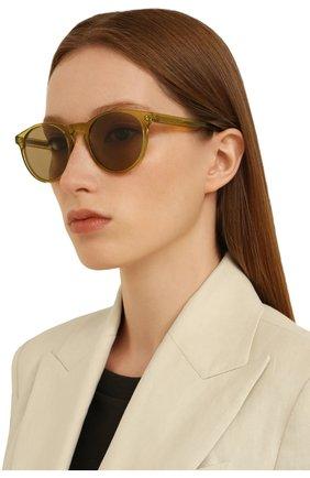 Женские солнцезащитные очки LORO PIANA желтого цвета, арт. FAL0261   Фото 2 (Тип очков: С/з)