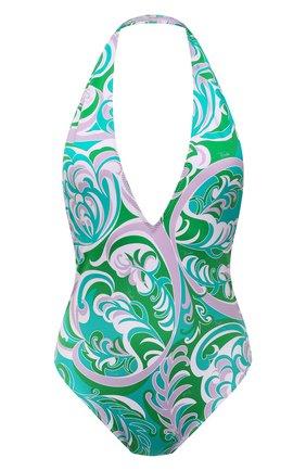Женский слитный купальник EMILIO PUCCI зеленого цвета, арт. 1RMC10/1R887 | Фото 1