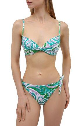 Женский плавки-бикини EMILIO PUCCI зеленого цвета, арт. 1RMX15/1R887 | Фото 2