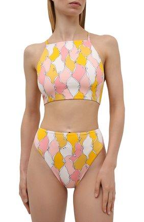 Женский плавки-бикини EMILIO PUCCI желтого цвета, арт. 1RMX65/1R777 | Фото 2