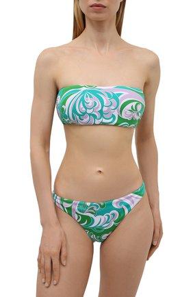 Женский плавки-бикини EMILIO PUCCI зеленого цвета, арт. 1RMX70/1R887 | Фото 2