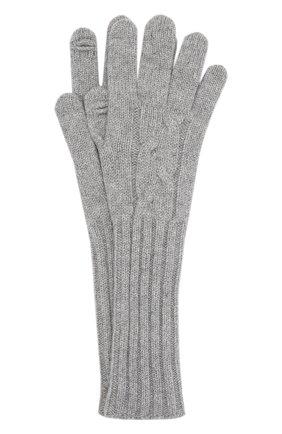 Женские кашемировые перчатки LORO PIANA серого цвета, арт. FAI8570 | Фото 1 (Материал: Шерсть, Кашемир)