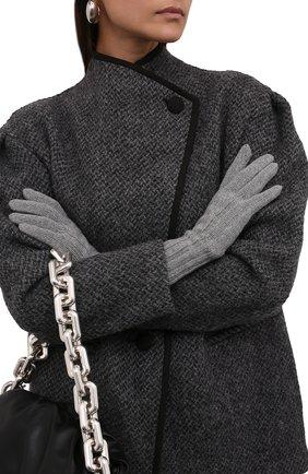 Женские кашемировые перчатки LORO PIANA серого цвета, арт. FAI8570 | Фото 2 (Материал: Шерсть, Кашемир)
