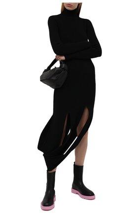 Женские кожаные ботинки show GIVENCHY черного цвета, арт. BE602VE12U | Фото 2