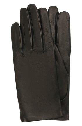 Женские кожаные перчатки DRIES VAN NOTEN черного цвета, арт. 212-010101-100   Фото 1