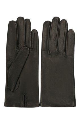 Женские кожаные перчатки DRIES VAN NOTEN черного цвета, арт. 212-010101-100   Фото 2