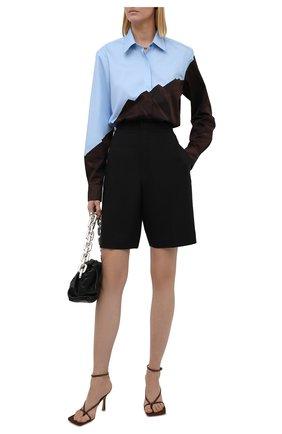 Женская хлопковая рубашка DRIES VAN NOTEN коричневого цвета, арт. 212-010765-3078 | Фото 2 (Рукава: Длинные; Материал внешний: Хлопок; Длина (для топов): Удлиненные; Стили: Романтичный; Принт: С принтом; Женское Кросс-КТ: Рубашка-одежда)