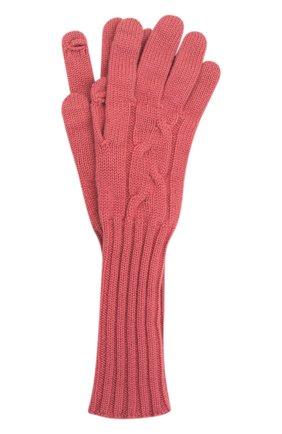 Женские кашемировые перчатки LORO PIANA розового цвета, арт. FAI8570 | Фото 1 (Материал: Шерсть, Кашемир)