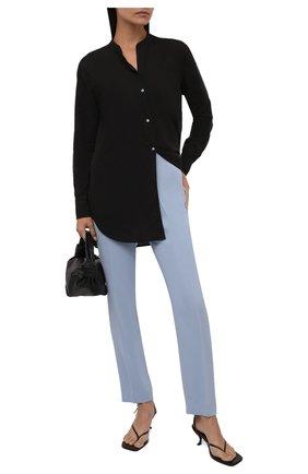 Женская хлопковая рубашка JAMES PERSE черного цвета, арт. WLC3642   Фото 2 (Рукава: Длинные; Длина (для топов): Удлиненные; Материал внешний: Хлопок; Стили: Кэжуэл; Принт: Без принта; Женское Кросс-КТ: Рубашка-одежда)
