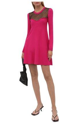 Женское платье из вискозы REDVALENTINO розового цвета, арт. WR0KD03U/670 | Фото 2 (Материал внешний: Вискоза; Рукава: Длинные; Длина Ж (юбки, платья, шорты): Мини; Стили: Романтичный; Кросс-КТ: Трикотаж; Случай: Повседневный; Женское Кросс-КТ: Платье-одежда)