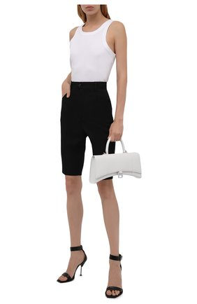 Женские шерстяные шорты SAINT LAURENT черного цвета, арт. 661317/Y512W | Фото 2 (Материал внешний: Шерсть; Длина Ж (юбки, платья, шорты): Миди; Стили: Гламурный; Женское Кросс-КТ: Шорты-одежда)