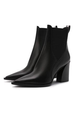 Женские кожаные ботильоны PREMIATA черного цвета, арт. M5961Z/F0ULARD   Фото 1 (Материал внутренний: Натуральная кожа; Подошва: Плоская; Каблук высота: Высокий; Каблук тип: Устойчивый)