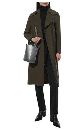 Женские кожаные ботильоны PREMIATA черного цвета, арт. M5961Z/F0ULARD   Фото 2 (Материал внутренний: Натуральная кожа; Подошва: Плоская; Каблук высота: Высокий; Каблук тип: Устойчивый)