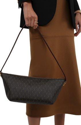 Женская сумка le monogramme SAINT LAURENT коричневого цвета, арт. 667490/2UY2W | Фото 2 (Материал: Экокожа; Размер: large)