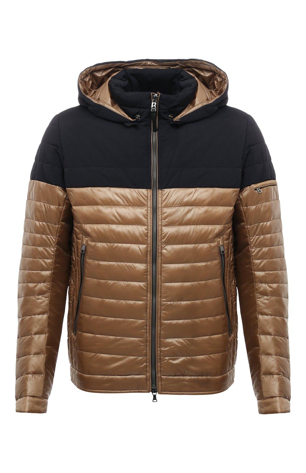 Мужская утепленная куртка BOGNER коричневого цвета, арт. 38006550 | Фото 1 (Кросс-КТ: Куртка; Мужское Кросс-КТ: пуховик-короткий; Рукава: Длинные; Материал внешний: Синтетический материал; Длина (верхняя одежда): Короткие; Стили: Кэжуэл)