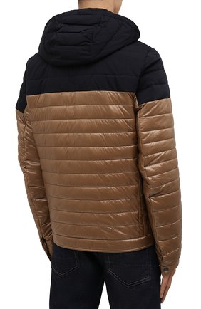 Мужская утепленная куртка BOGNER коричневого цвета, арт. 38006550 | Фото 4 (Кросс-КТ: Куртка; Мужское Кросс-КТ: пуховик-короткий; Рукава: Длинные; Материал внешний: Синтетический материал; Длина (верхняя одежда): Короткие; Стили: Кэжуэл)