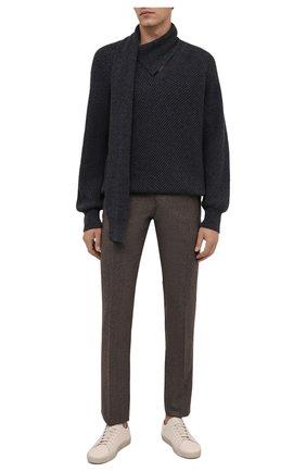 Мужские шерстяные брюки CORNELIANI коричневого цвета, арт. 885B01-1817226/02 | Фото 2