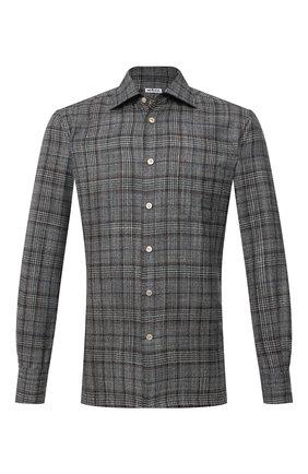 Рубашка из шерсти и шелка   Фото №1
