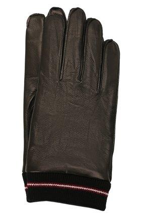 Мужские кожаные перчатки BALLY черного цвета, арт. M9P0030L-1S134/00 | Фото 1 (Мужское Кросс-КТ: Кожа и замша)