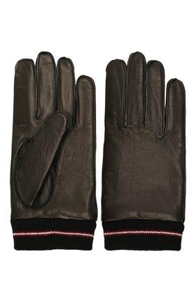 Мужские кожаные перчатки BALLY черного цвета, арт. M9P0030L-1S134/00 | Фото 2 (Мужское Кросс-КТ: Кожа и замша)