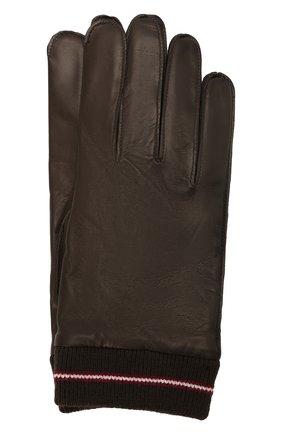 Мужские кожаные перчатки BALLY коричневого цвета, арт. M9P0030L-1S134/595 | Фото 1 (Мужское Кросс-КТ: Кожа и замша)